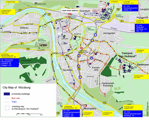 Map Wuerzburg Fakultt fr Biologie